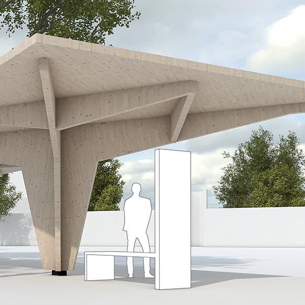 Busstop | CBA | Christian Bauer & Associés Architectes s.a.